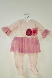 Haute Baby Avery Grace Skirted Footie - Front cropped