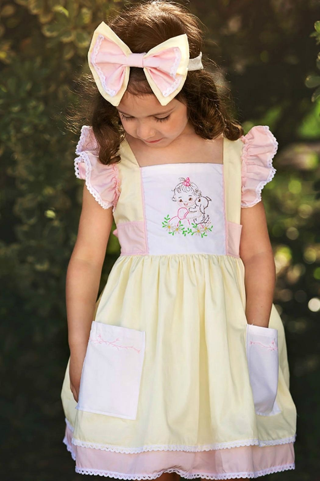 Haute Baby Cutie-Pie Embroidered Dress - Front Full Image