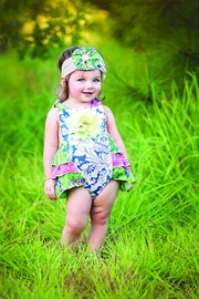Haute Baby Garden Blossom Sunsuit - Product Mini Image
