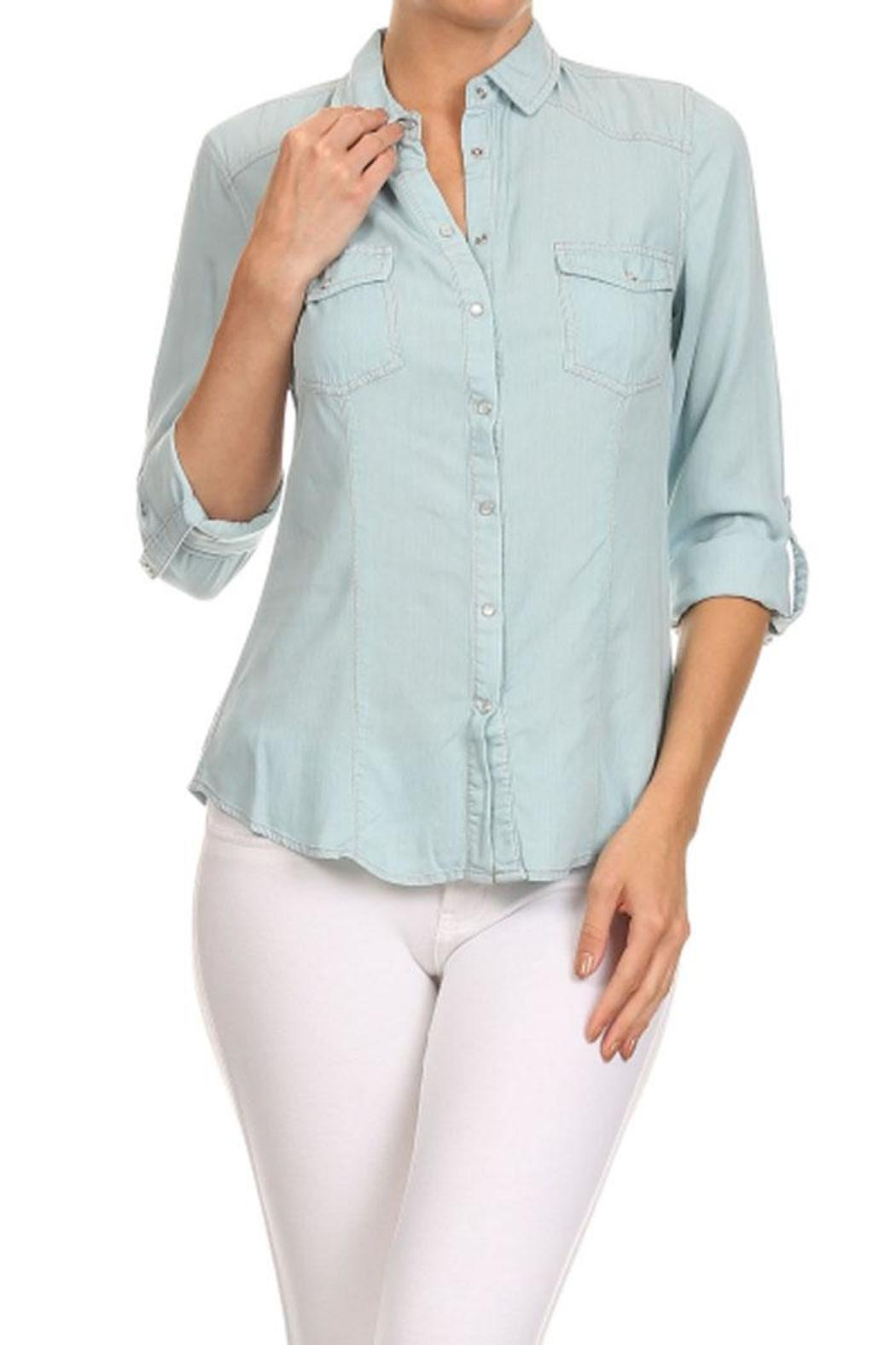 b95631c0949 Haute Monde Chambray Long Sleeve from Orange County by Maple ...