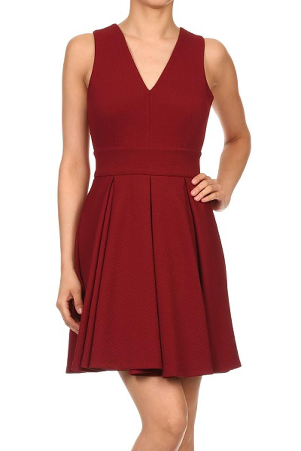 01a5ab6fef0 Haute Monde Pleated Red Dress from Orange County by Maple Boutique ...