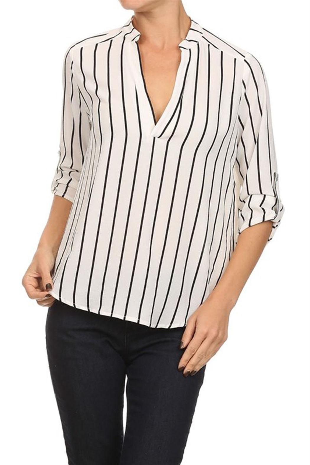 18df18431b4 Haute Monde Striped Blouse from Orange County by Maple Boutique ...