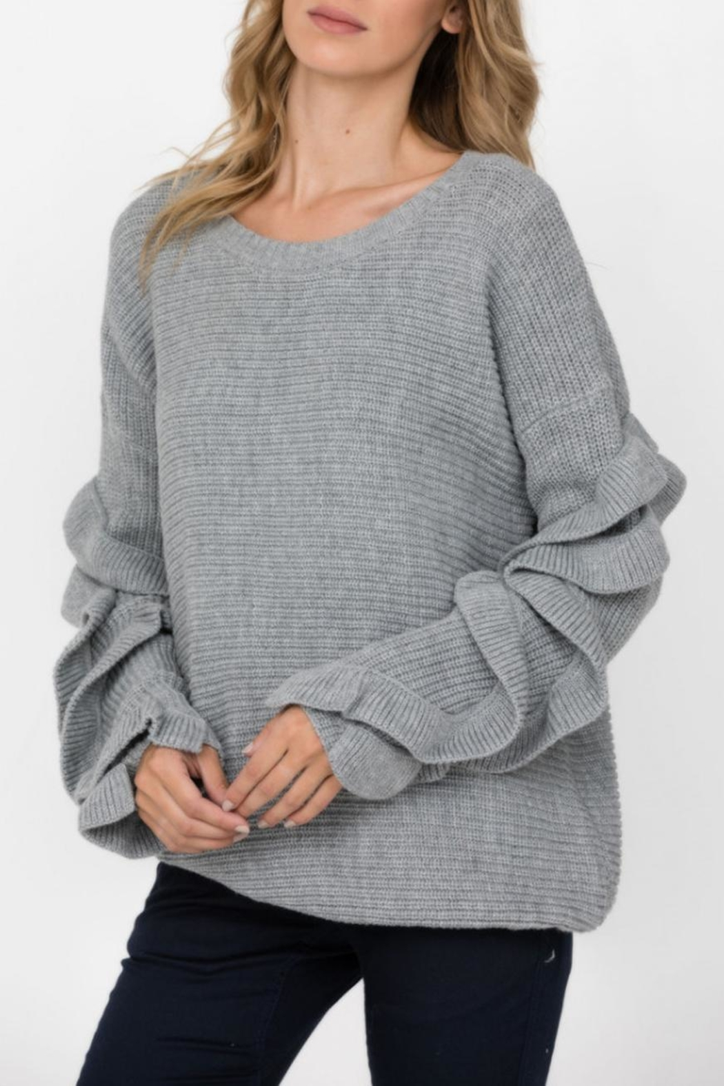 Haute Rogue Ruffle Sleeve Sweater - Main Image