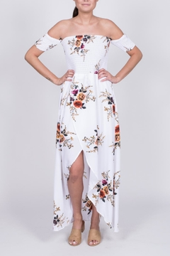 Haute Rogue Smocked Floral Maxi Dress - Product List Image