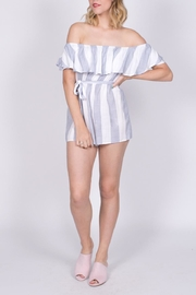 Haute Rogue Striped Off Shoulder Romper - Other