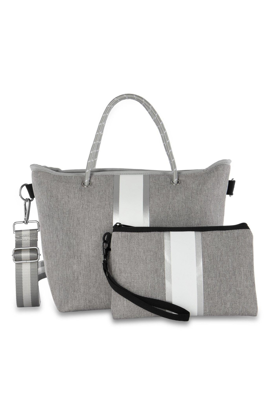 Haute Shore Bags Linen Textured Tote - Front Full Image