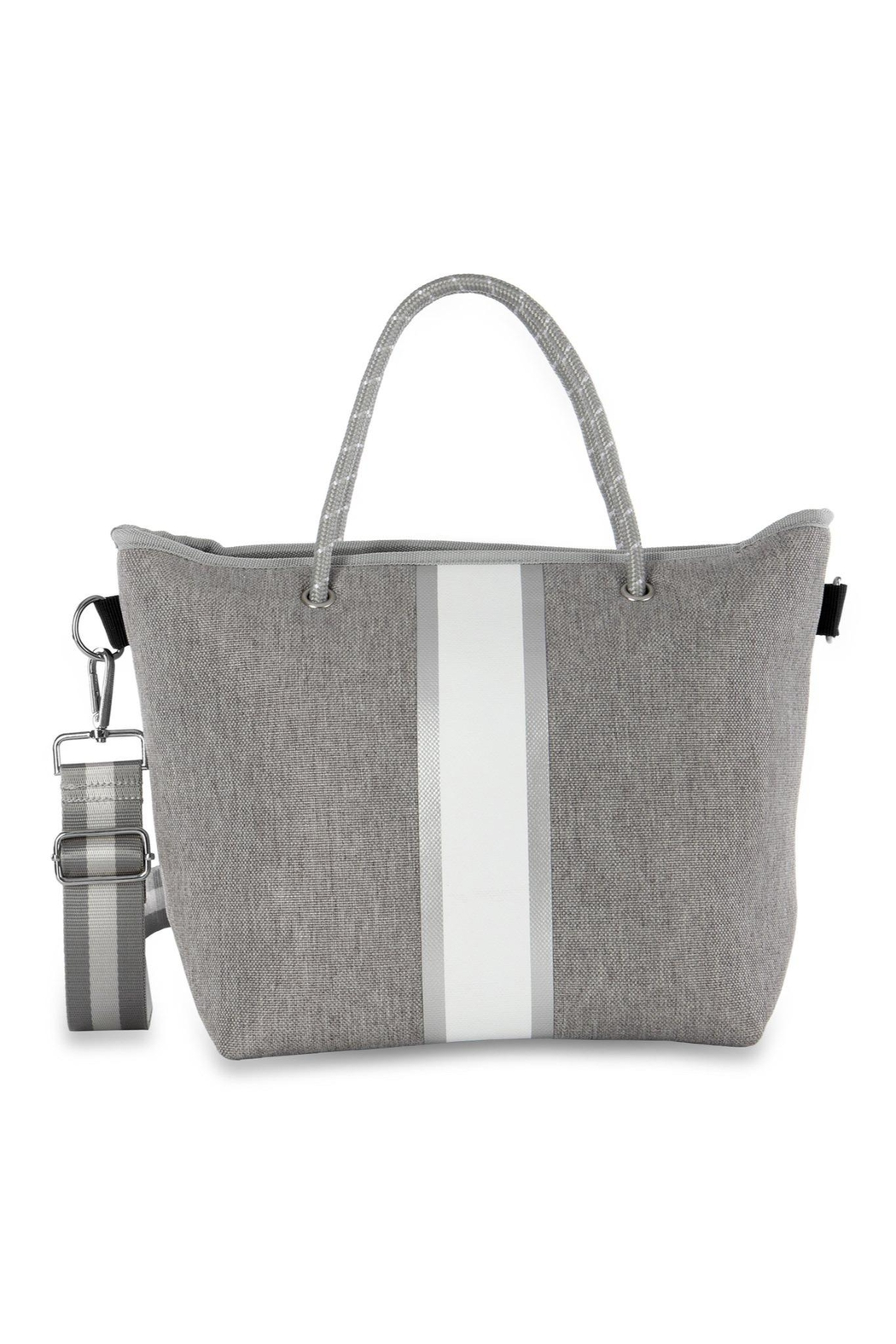 Haute Shore Bags Linen Textured Tote - Front Cropped Image