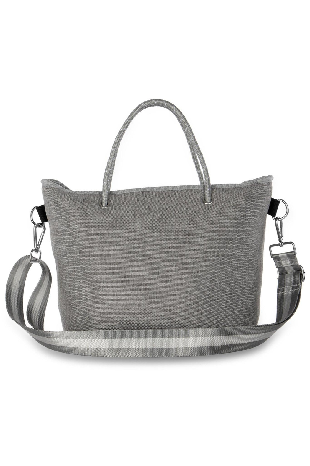 Haute Shore Bags Linen Textured Tote - Back Cropped Image