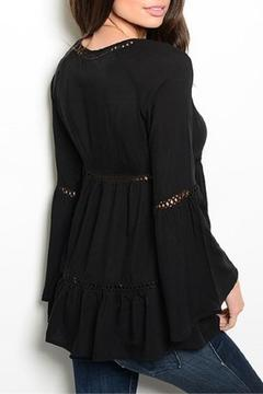 Shoptiques Product: Black Bell Sleeve