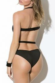 Shoptiques Product: Black Halter Teddy - Front full body