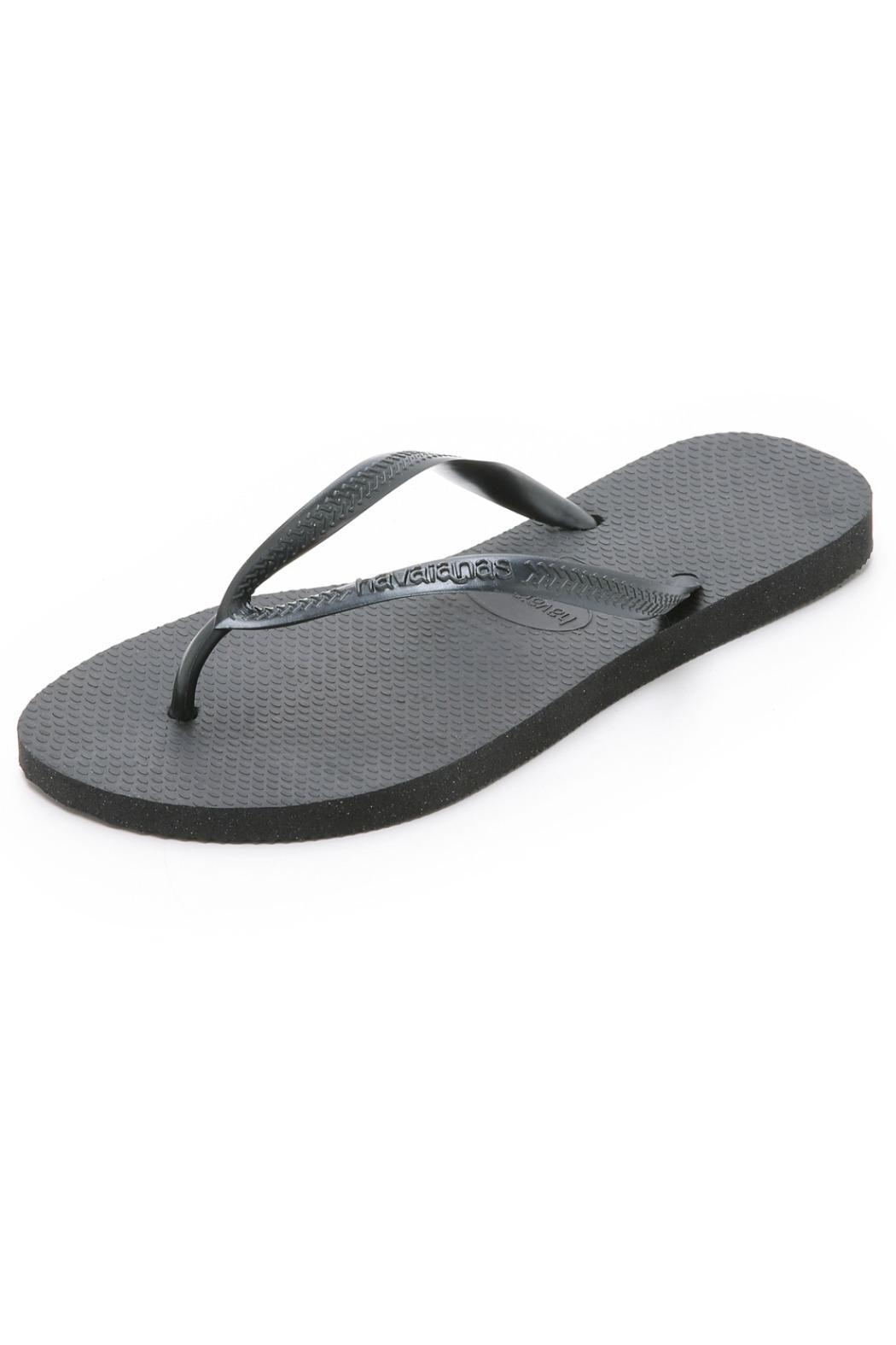 5629ed5fdace81 Havaianas Black Flip Flops from New York by Lola Saratoga — Shoptiques