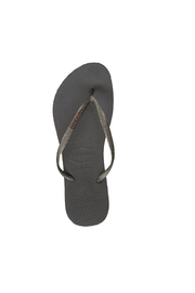 Havaianas Slim  Metallic Flip Flops - Front full body