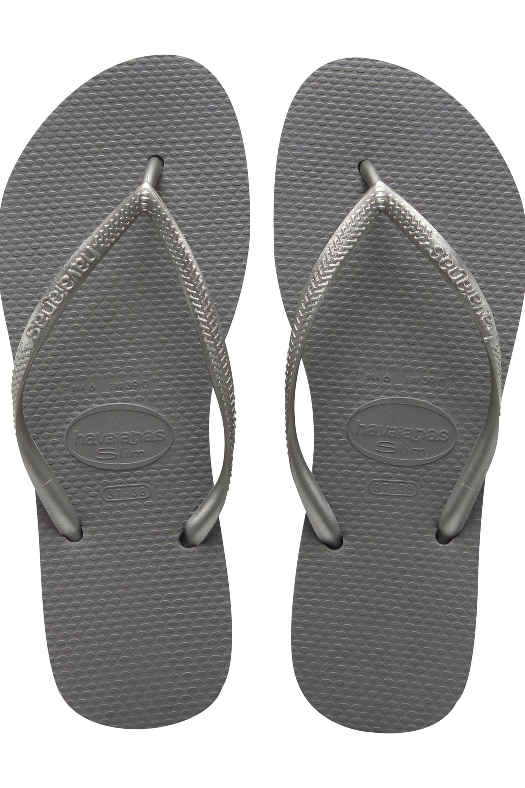 Havaianas Slim Steel Grey - Front Cropped Image