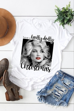 kissed Apparel Have a Holly Dolly Christmas Tee - Alternate List Image
