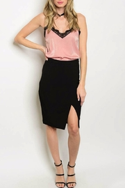 HAVE Black Slit Skirt - Product Mini Image