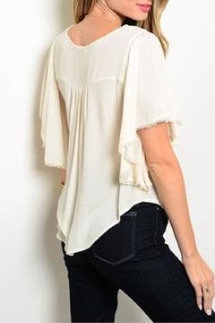 Shoptiques Product: Coral Top Embroidery