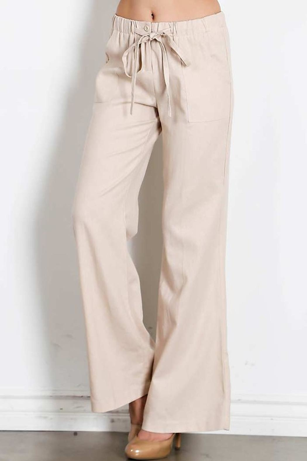 HAVE Drawstring Linen Pants - Front Full Image