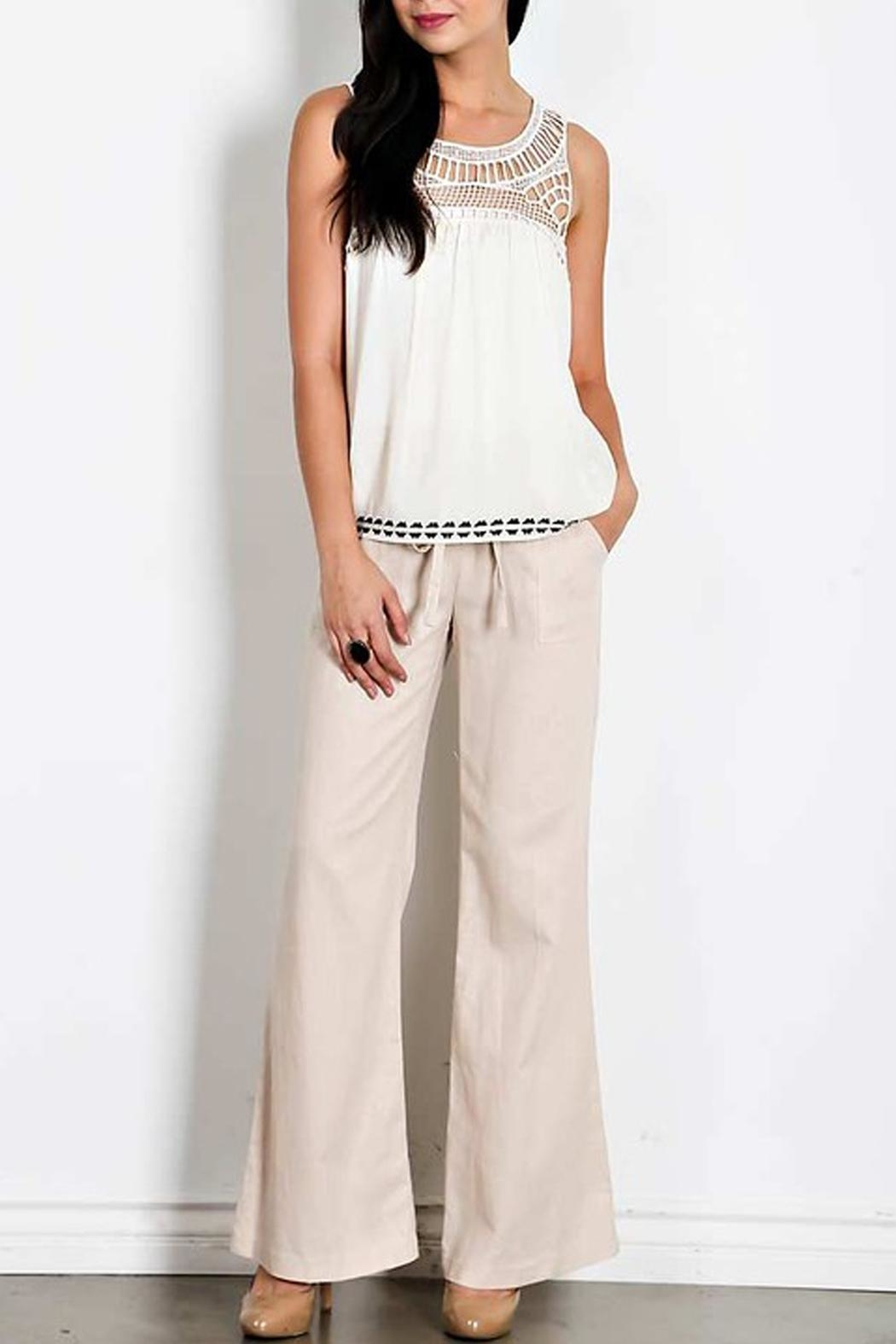 HAVE Drawstring Linen Pants - Front Cropped Image