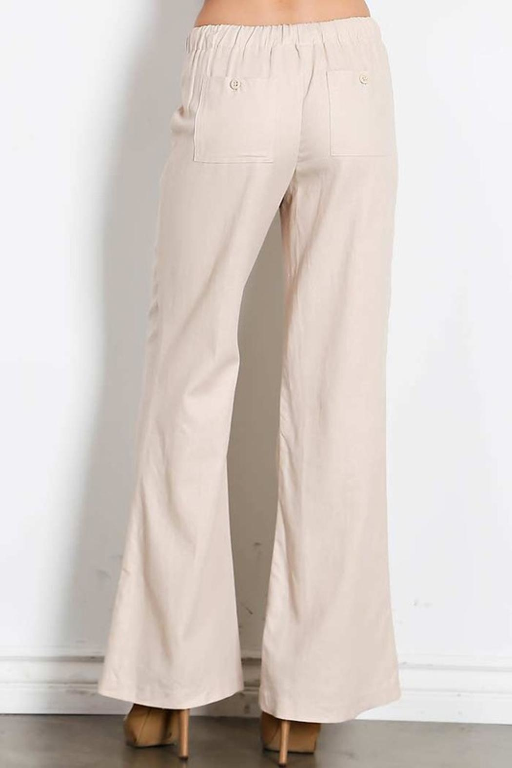 HAVE Drawstring Linen Pants - Side Cropped Image