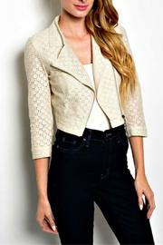 HAVE Ivory Cropped Jacket - Front cropped