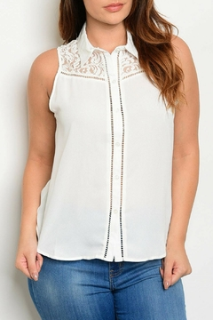 HAVE Ivory Woven Top - Product List Image