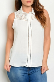 HAVE Ivory Woven Top - Product Mini Image
