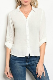 HAVE White Button Up - Front cropped