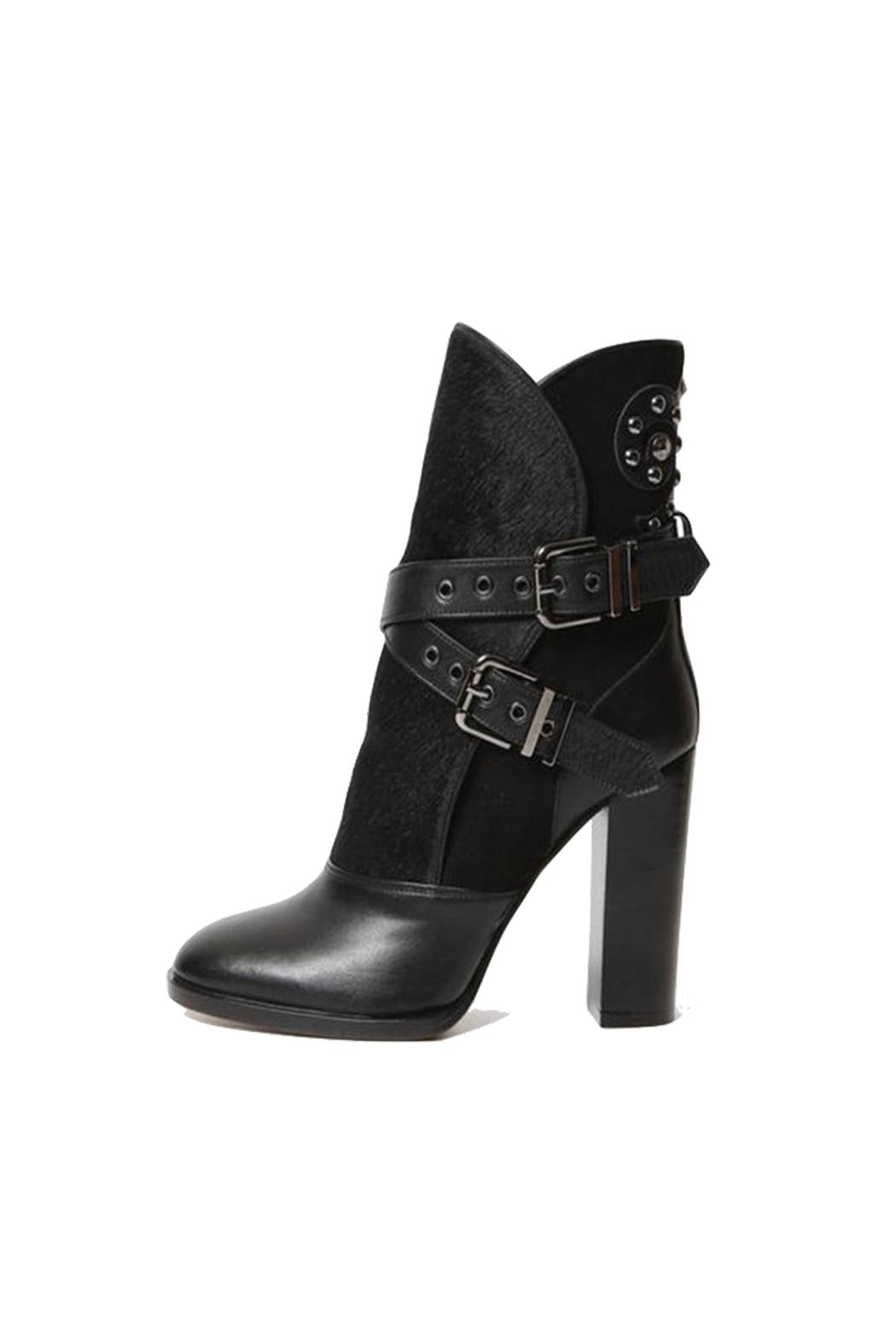 HAVVA Edgy Black Boots - Front Cropped Image