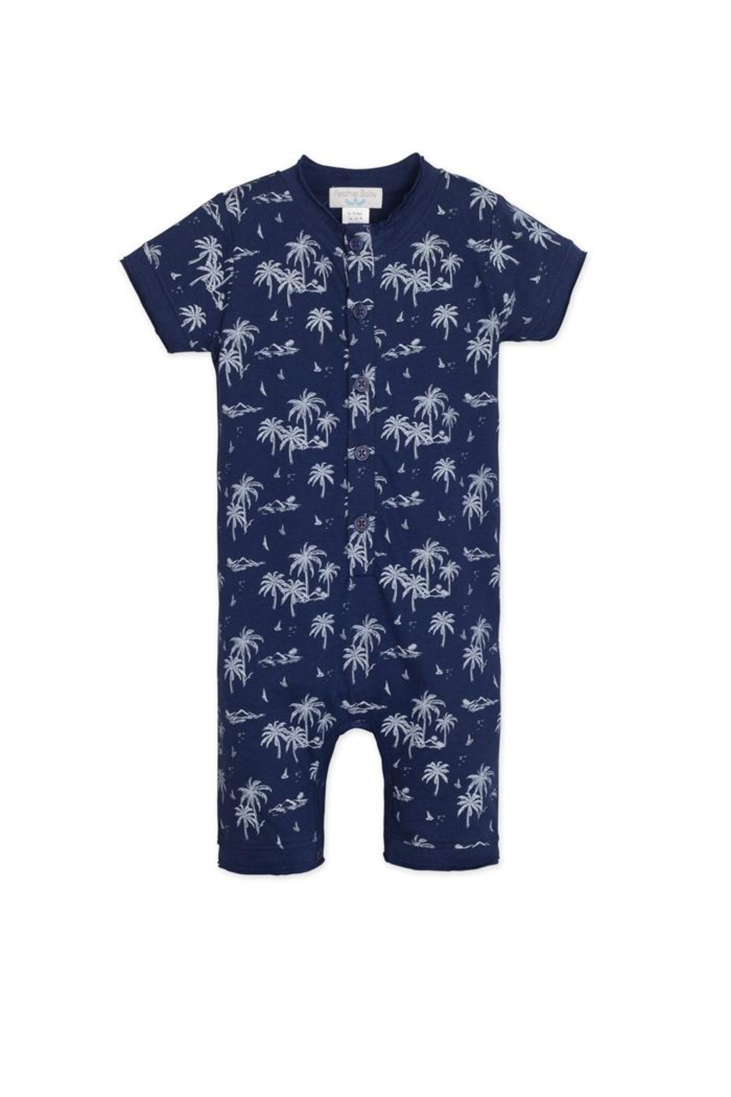Feather Baby Hawaii Henley Romper - Main Image