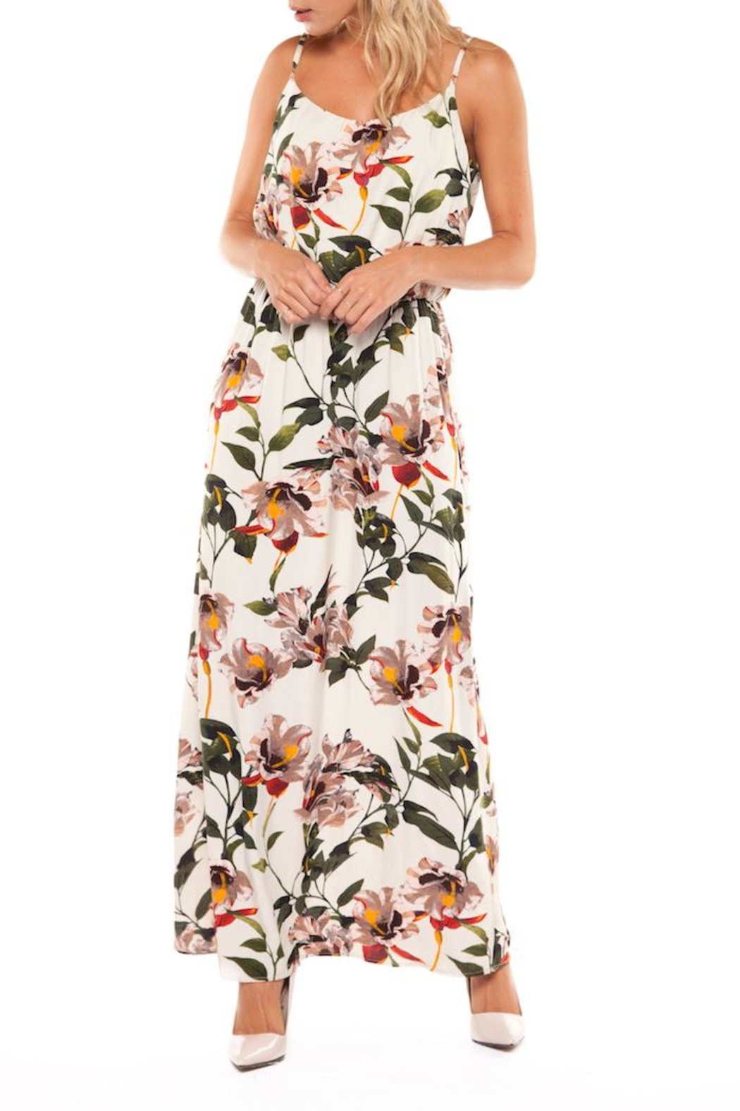 Dex Tropical Maxi Dress - Front Cropped Image