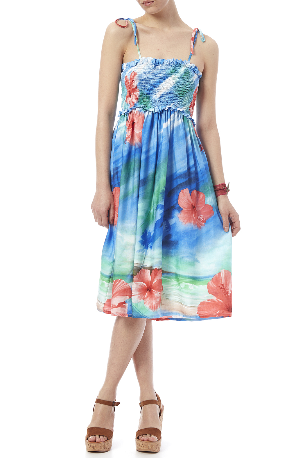 Hawaiian Watercolor Paradise Dress - Main Image