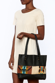 Hawks and Doves Black Porter Tote - Back cropped