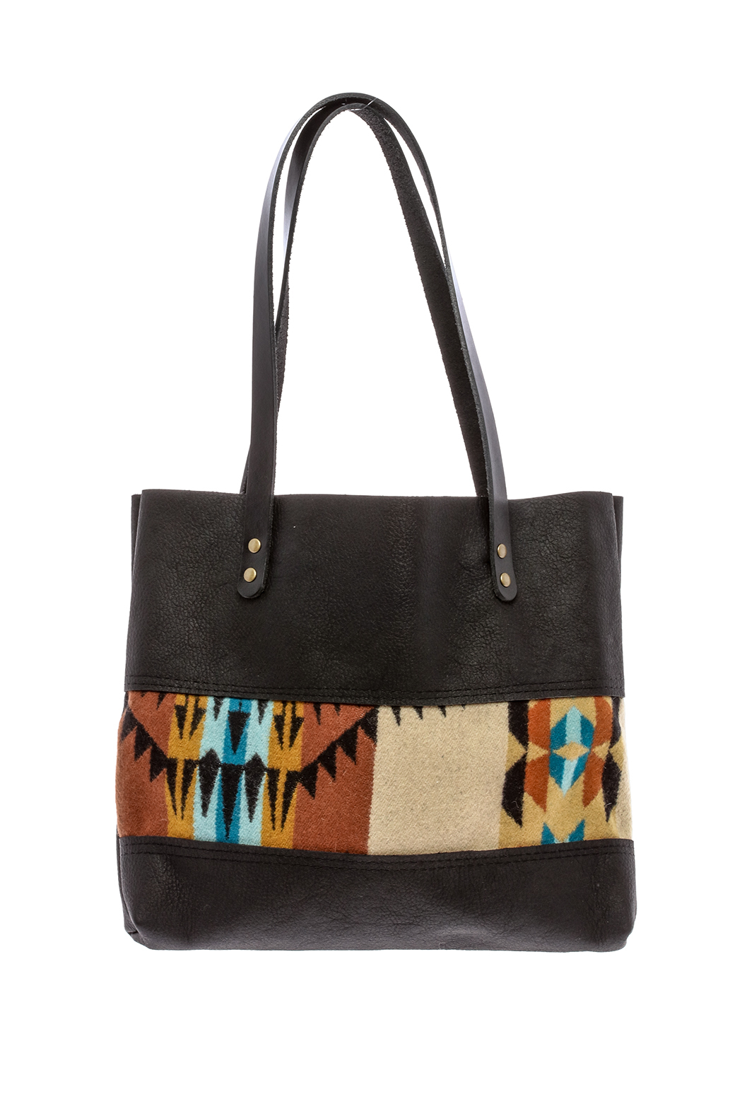Hawks and Doves Black Porter Tote - Front Cropped Image