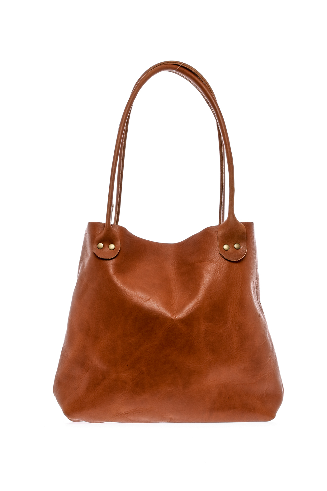Hawks and Doves Tan Porter Tote - Front Cropped Image