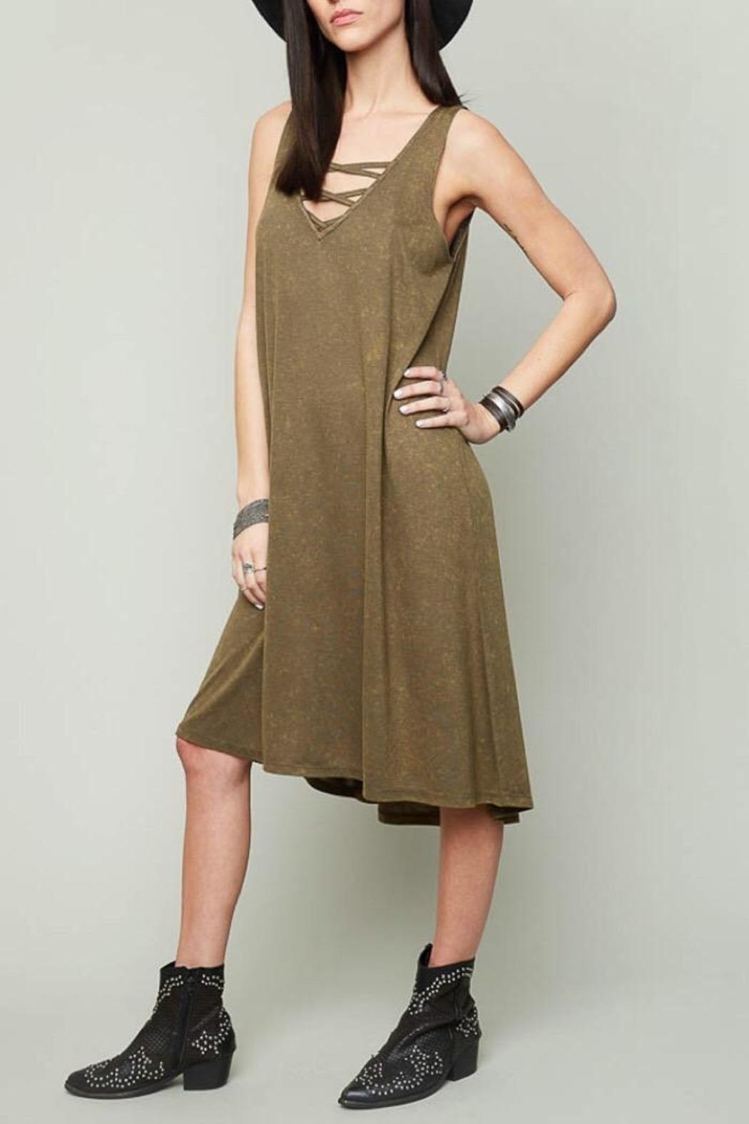 Hayden Army Tank Dress - Front Cropped Image