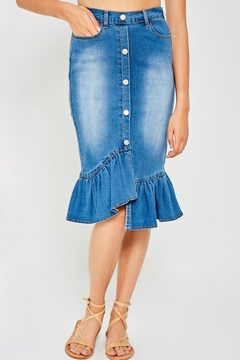 Hayden Asymmetrical Ruffle Skirt - Product List Image