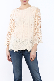 Hayden Ivory Crochet Top - Product Mini Image