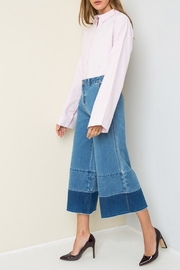 Hayden Denim Gaucho Pants - Product Mini Image