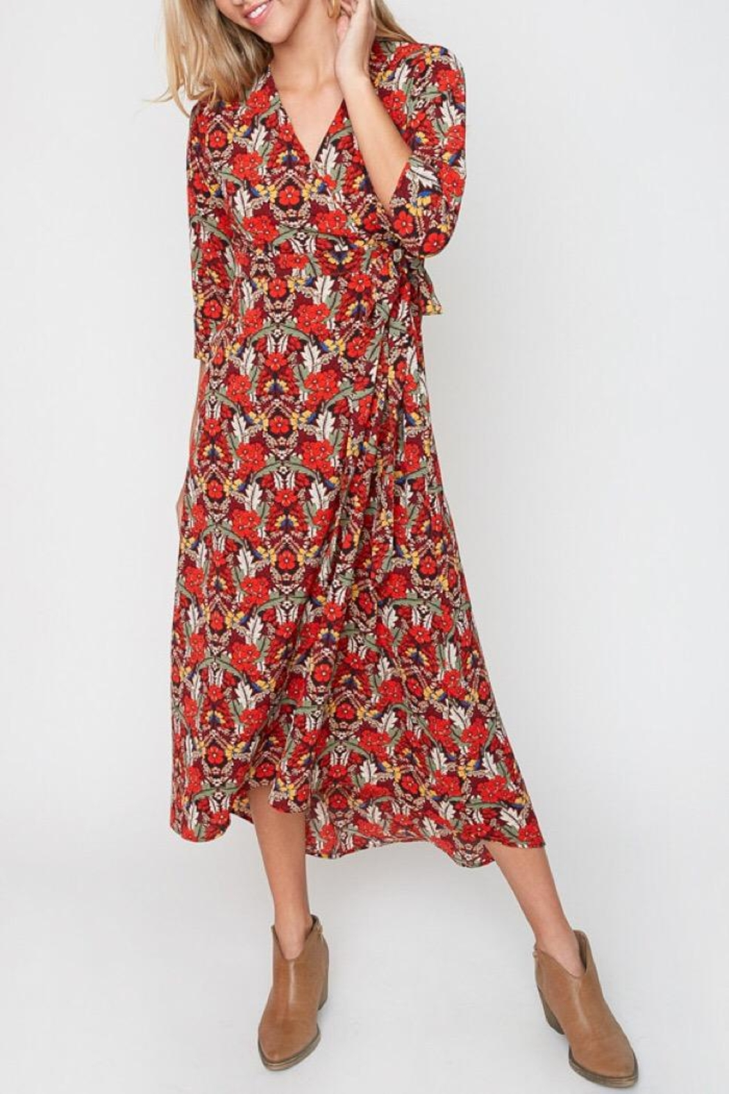 Hayden Wrap Dress - Front Cropped Image