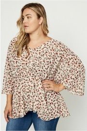 Hayden Floral Peplum Blouse - Front full body