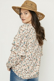 Hayden Floral Ruffle-Sleeve Blouse - Side cropped
