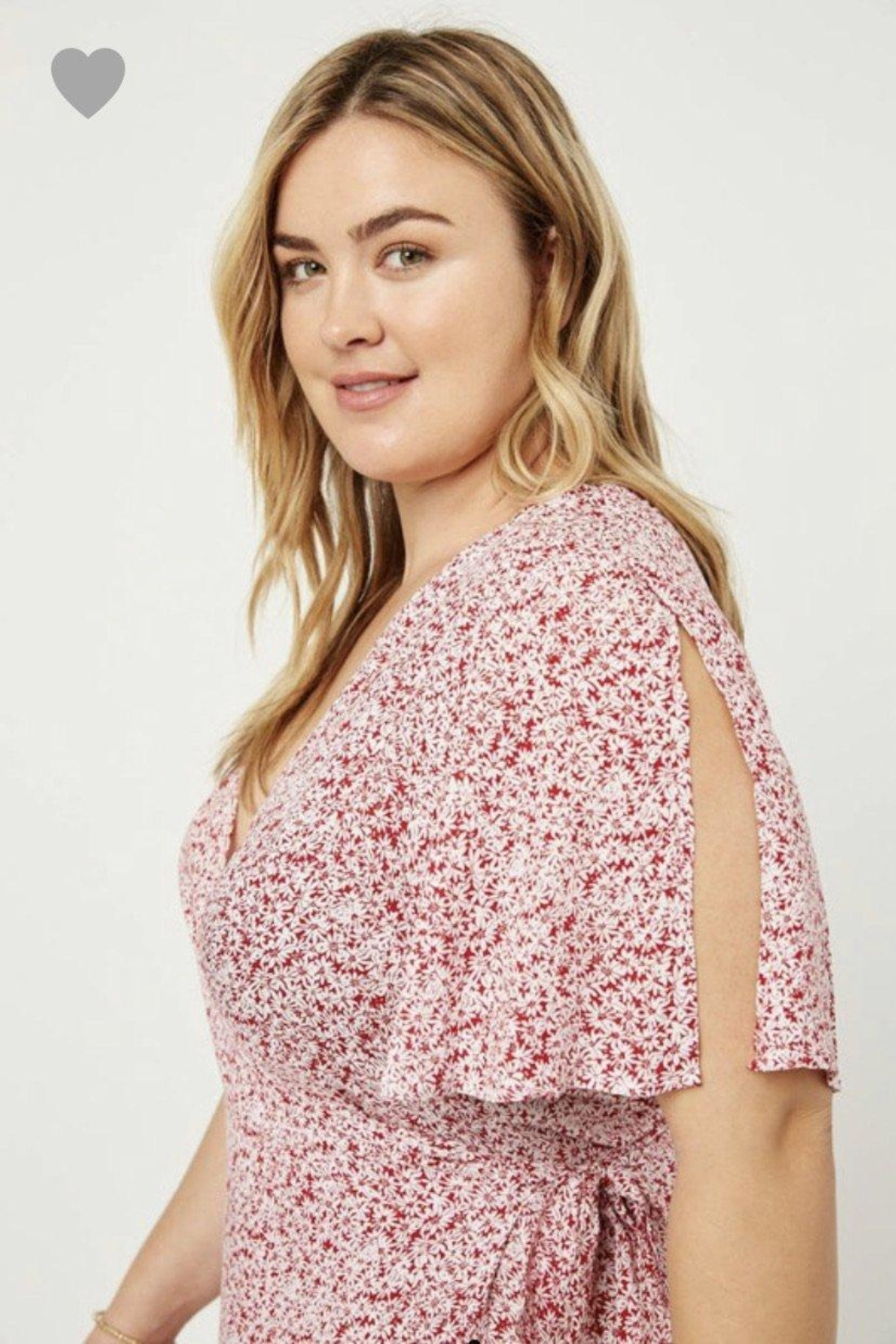 Hayden Floral Wrap Dress - Side Cropped Image