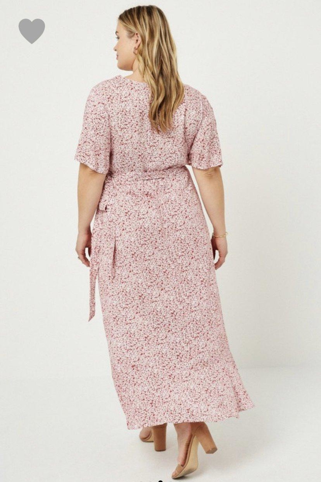 Hayden Floral Wrap Dress - Back Cropped Image