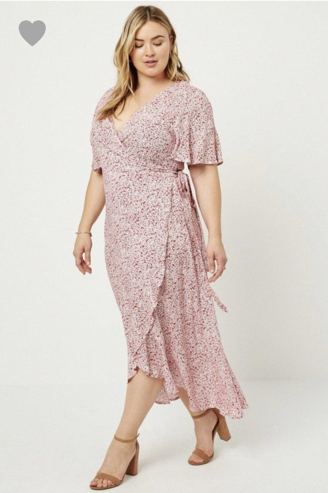 Hayden Floral Wrap Dress - Front Full Image