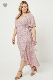 Hayden Floral Wrap Dress - Front full body