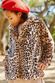 Hayden Girls Faux Leopard Jacket - Product Mini Image
