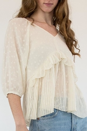Hayden Cream Blouse - Front full body
