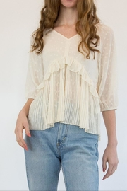 Hayden Cream Blouse - Front cropped