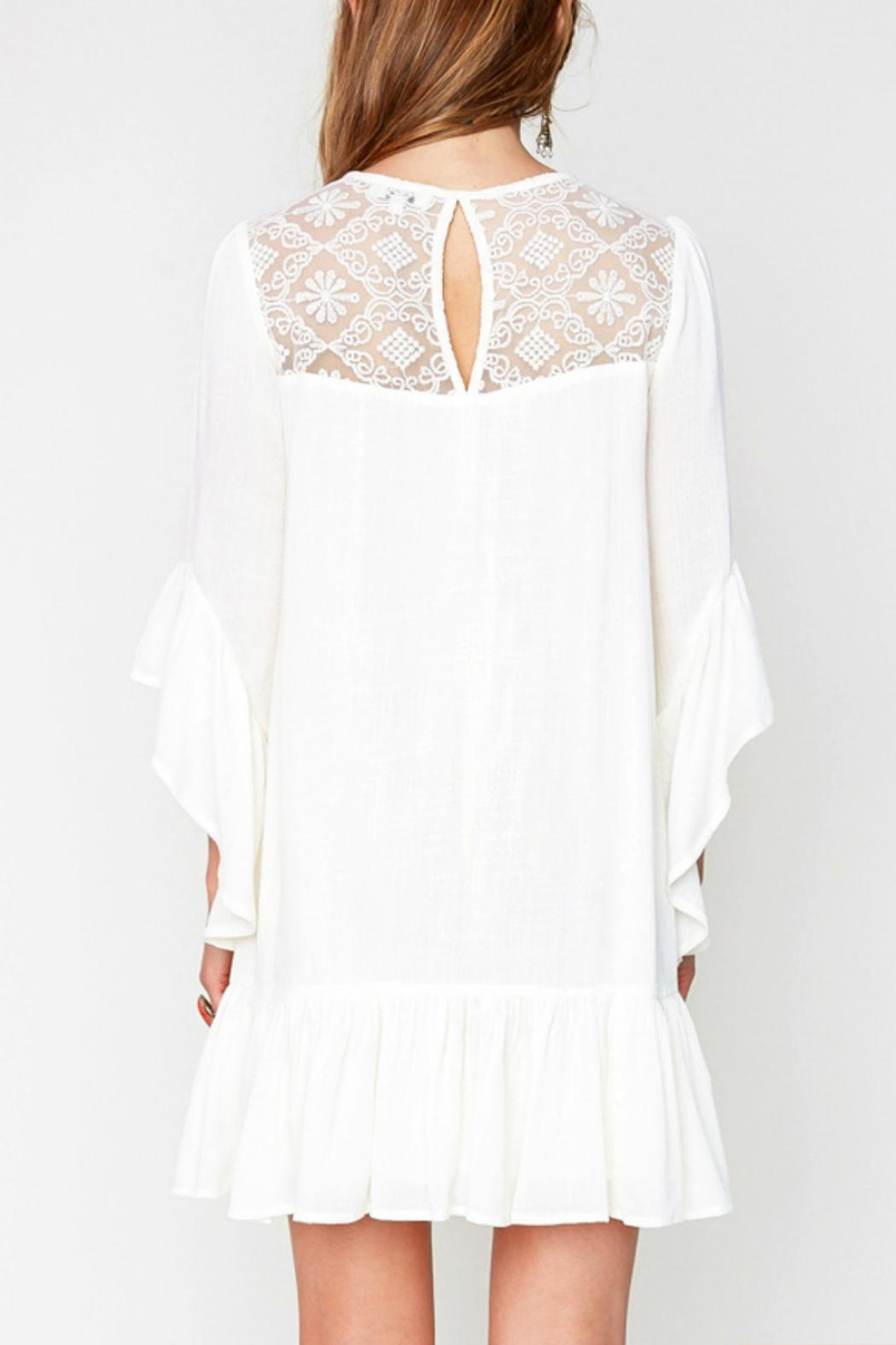 Hayden Lace Boho A-Line Dress - Side Cropped Image