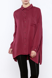 Hayden Los Angeles Oversized Chain-Back Blouse - Product Mini Image
